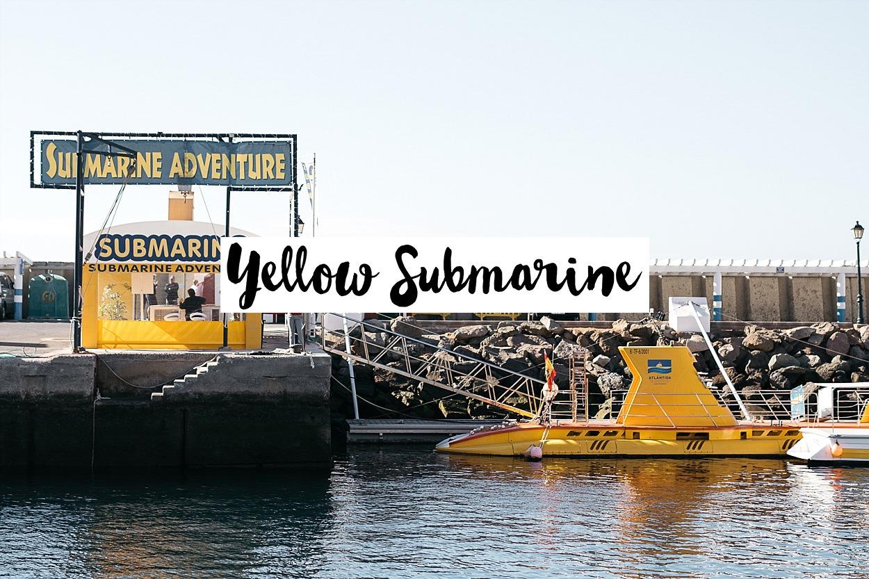 Gran Canaria ; Grande Canarie ; Las Palmas, Puerto de Mogan ; Yellow submarine