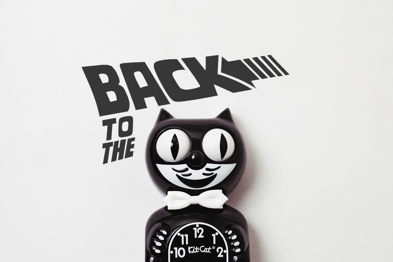 Back to the futur avec l'horloge Kit Cat