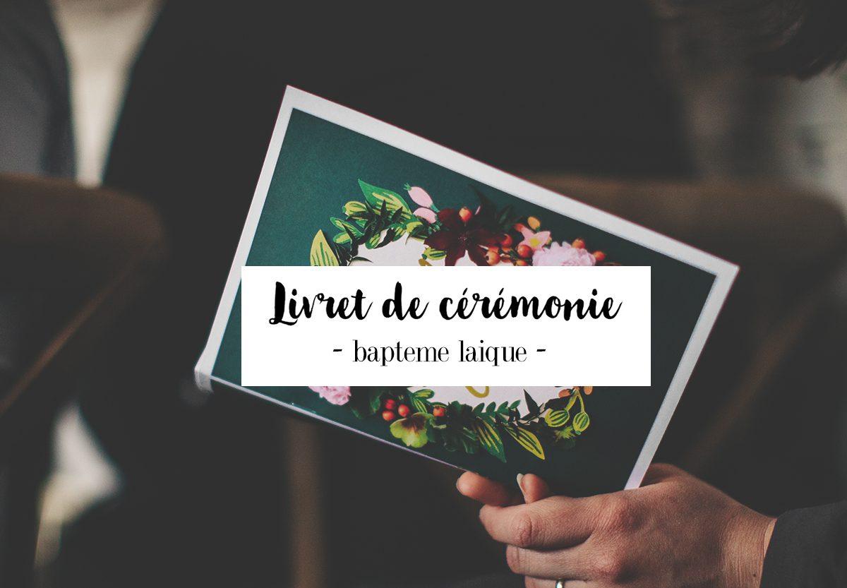 Livret de cérémonie #Baptême laïque