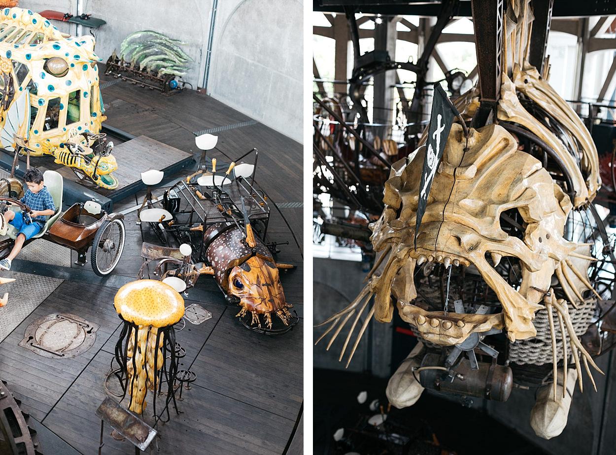Nantes l'île des machines l'éléphant géant campus des makers carrousel des mondes marins
