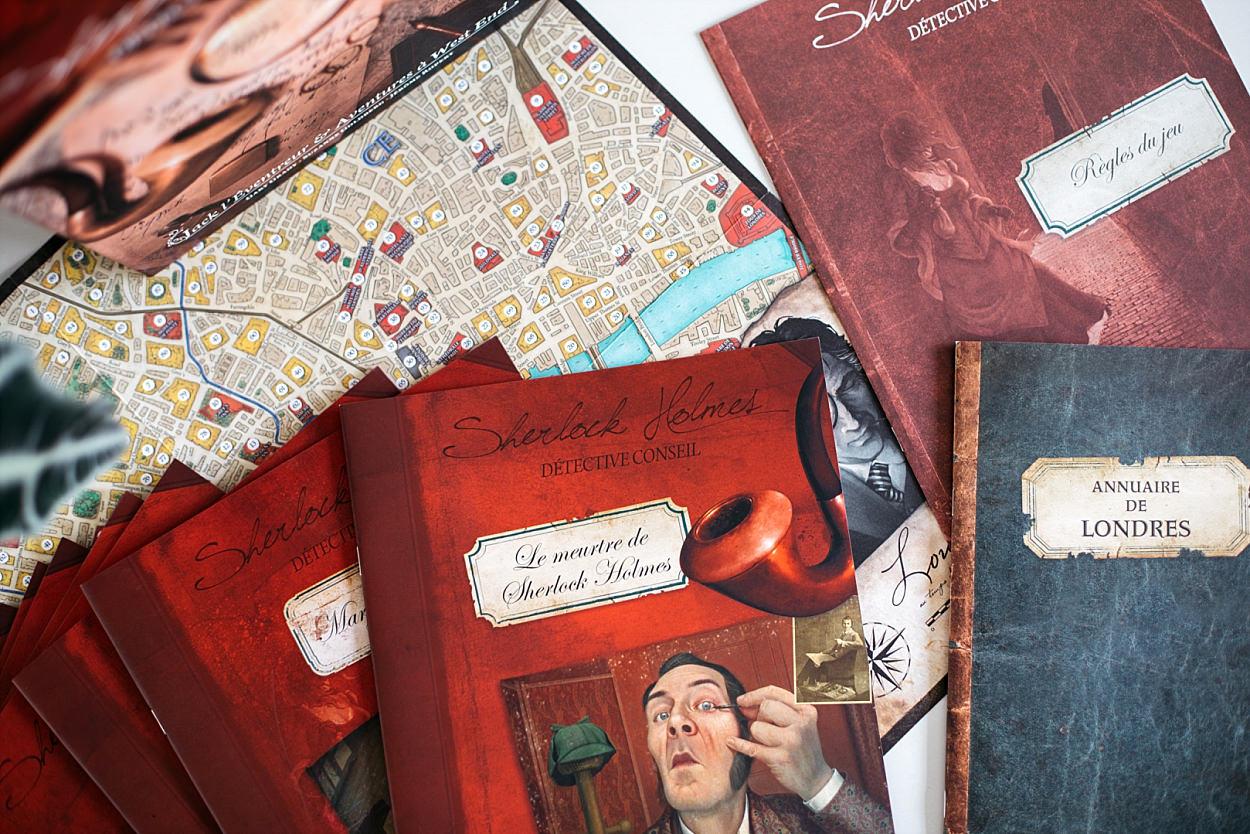 SHDC Sherlock Holmes Detective conseil Asmodée jeu jeu de société