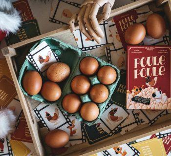 Poule Poule et joie œuf Noel !